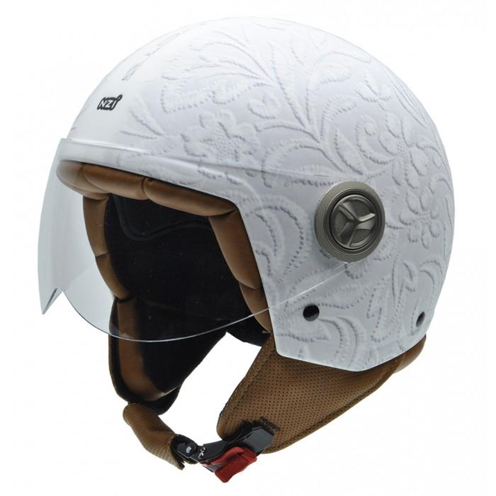 NZI Κράνος Zeta 3D Brocado White ΚΡΑΝΗ